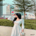 Đầm Suông Dài Xếp Li Eo YANDO_DA37