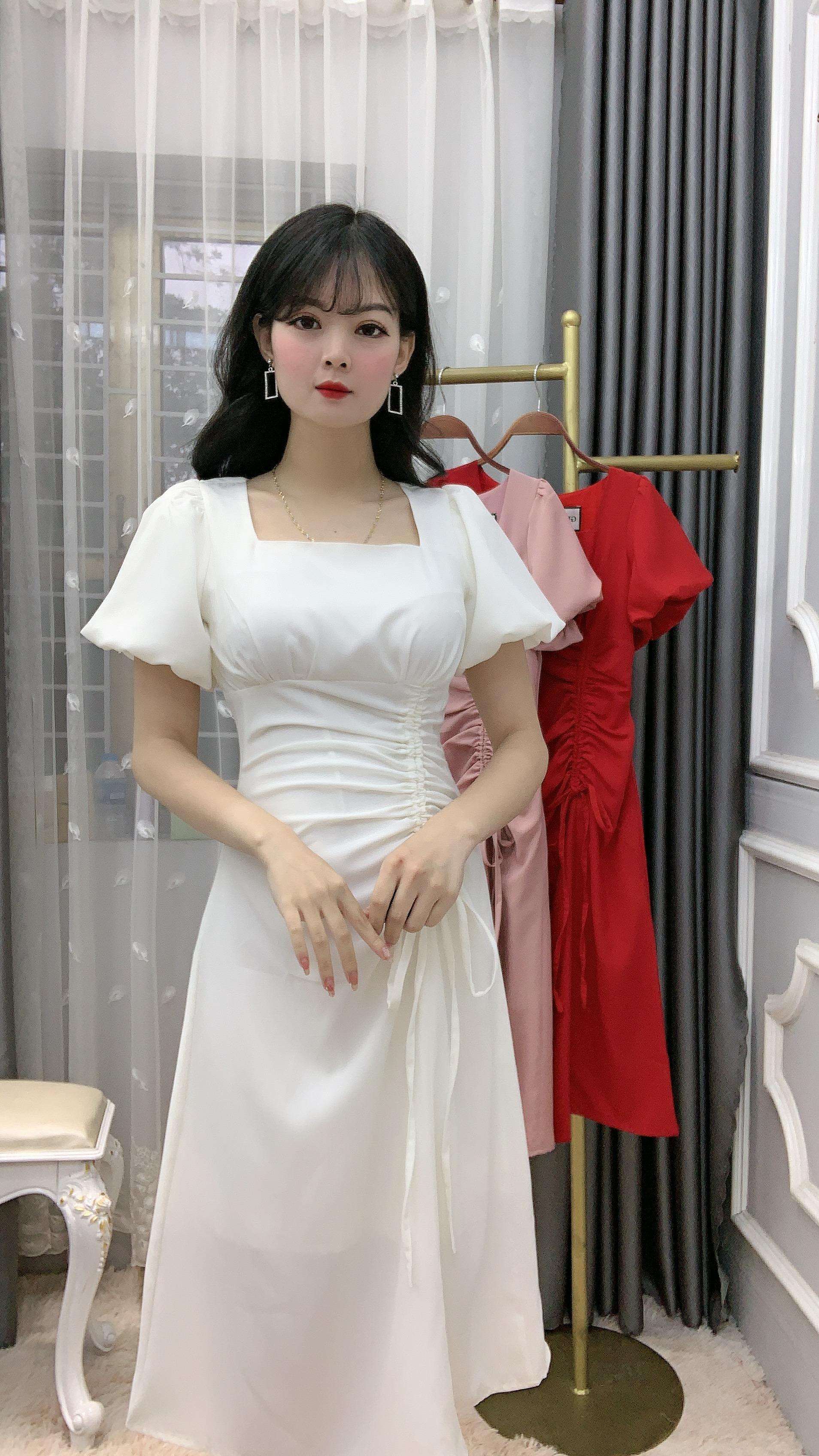 Đầm Tay Bí Dây Rút Yando- DA22