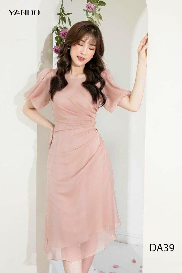 Đầm Voan Tay Bí_DA39