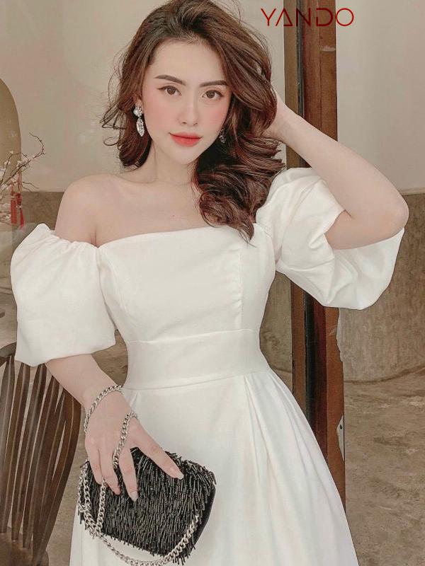 Đầm Suông Dài Tay Phồng YANDO_DA47