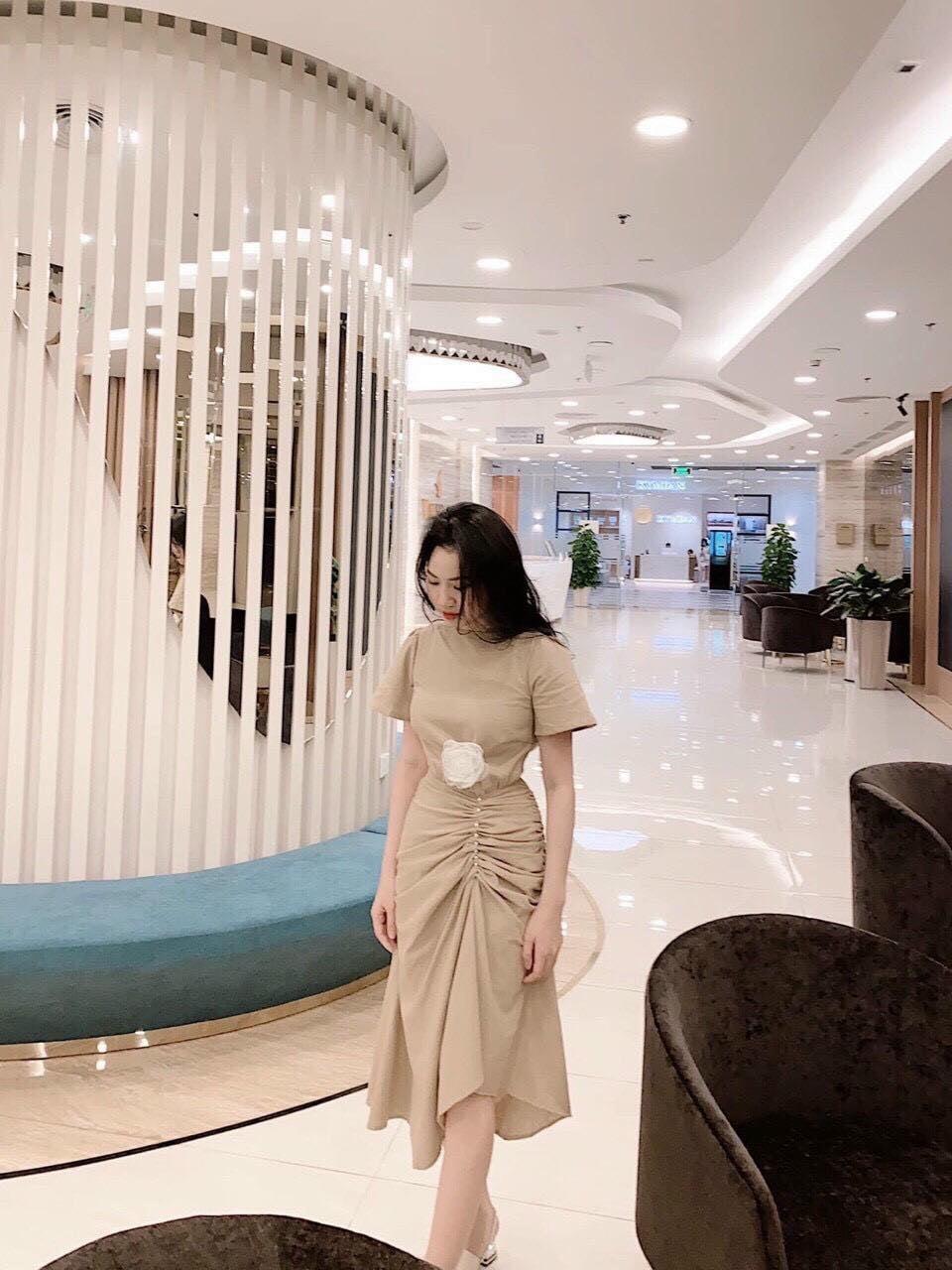 Váy Nhún Đính Hoa Sang Trọng- DA25